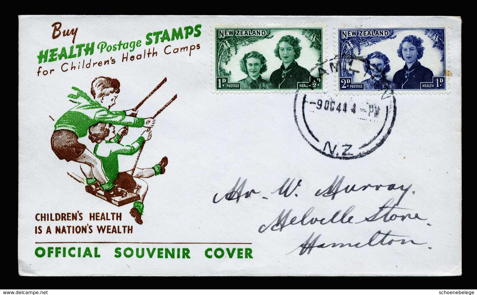 A5472) New Zealand Neuseeland Brief Hamilton 9.10.44 - 1907-1947 Dominion