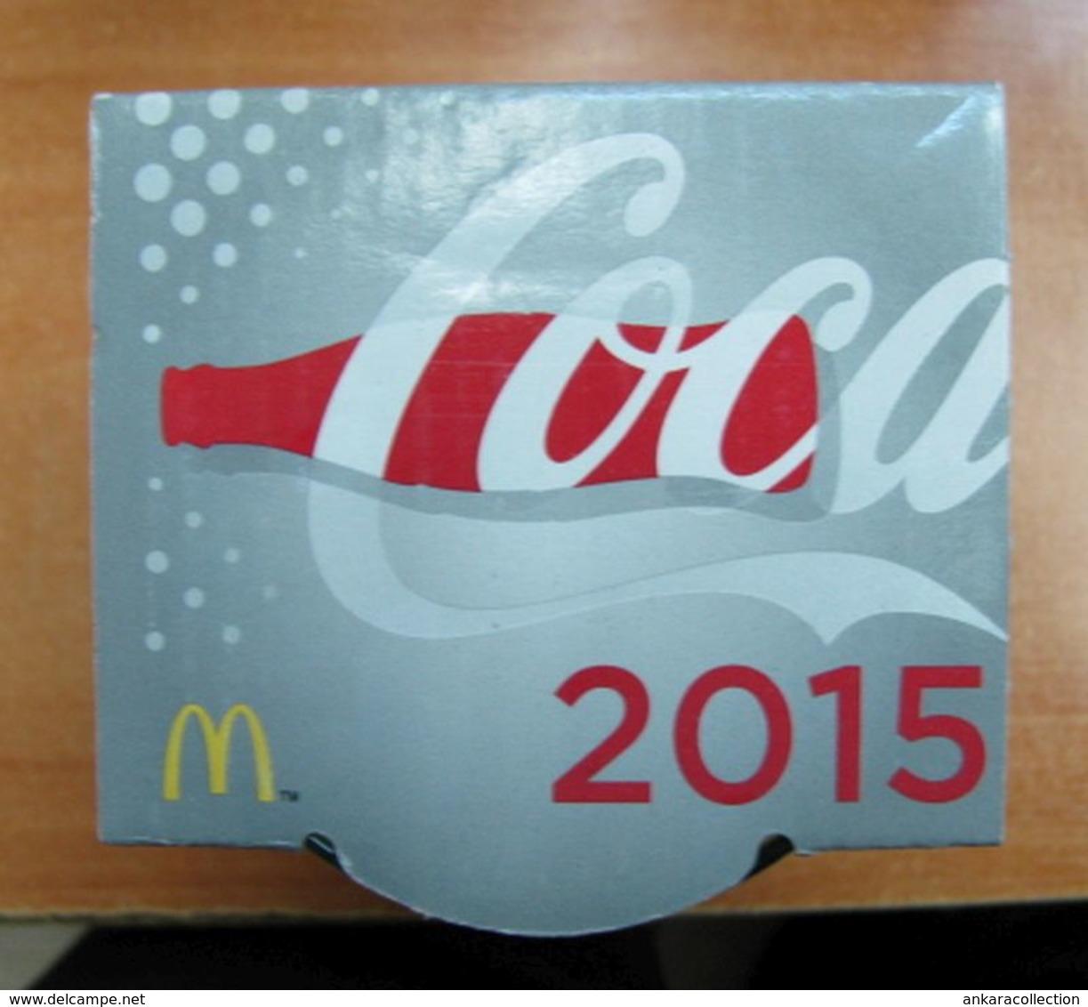 AC - COCA COLA McDONALD'S 2015 GREENISH CLEAR GLASS IN ITS ORIGINAL BOX - Tazas & Vasos