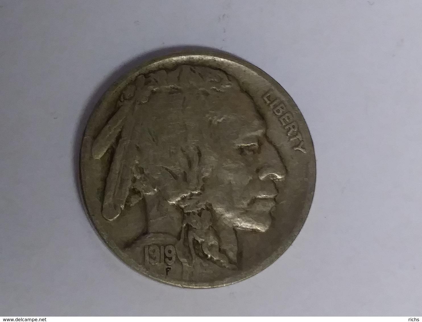 1919 Buffalo Nickel - Émissions Fédérales