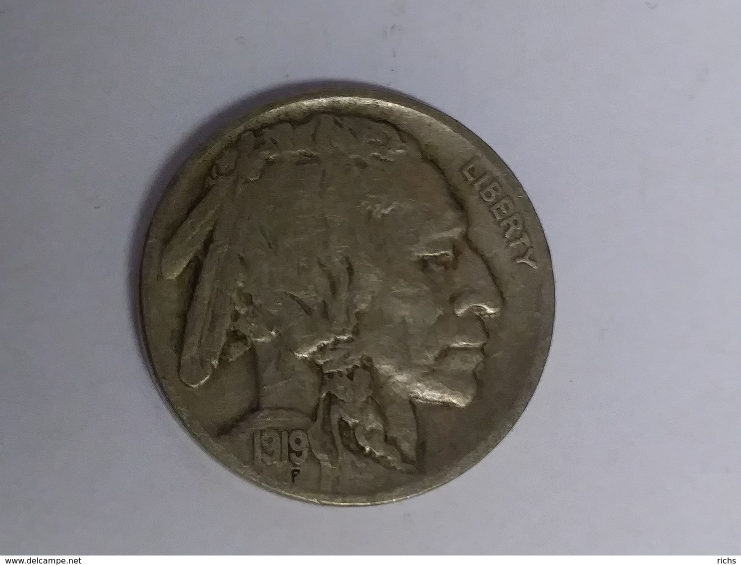 1919 Buffalo Nickel - 1913-1938: Buffalo