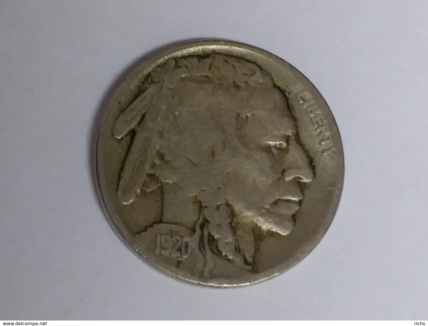 1920 Buffalo Nickel - 1913-1938: Buffalo