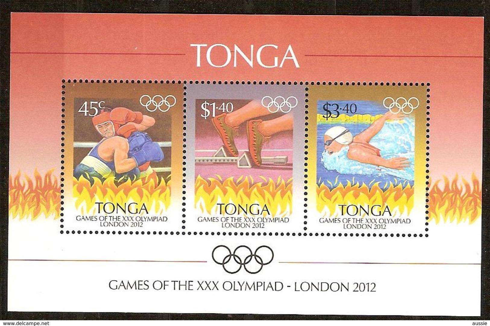 Tonga 2012 Yvertn° Bloc 51 ***  MNH Cote 10 Euro  Sport Jeux Olympiques Londres London - Tonga (1970-...)