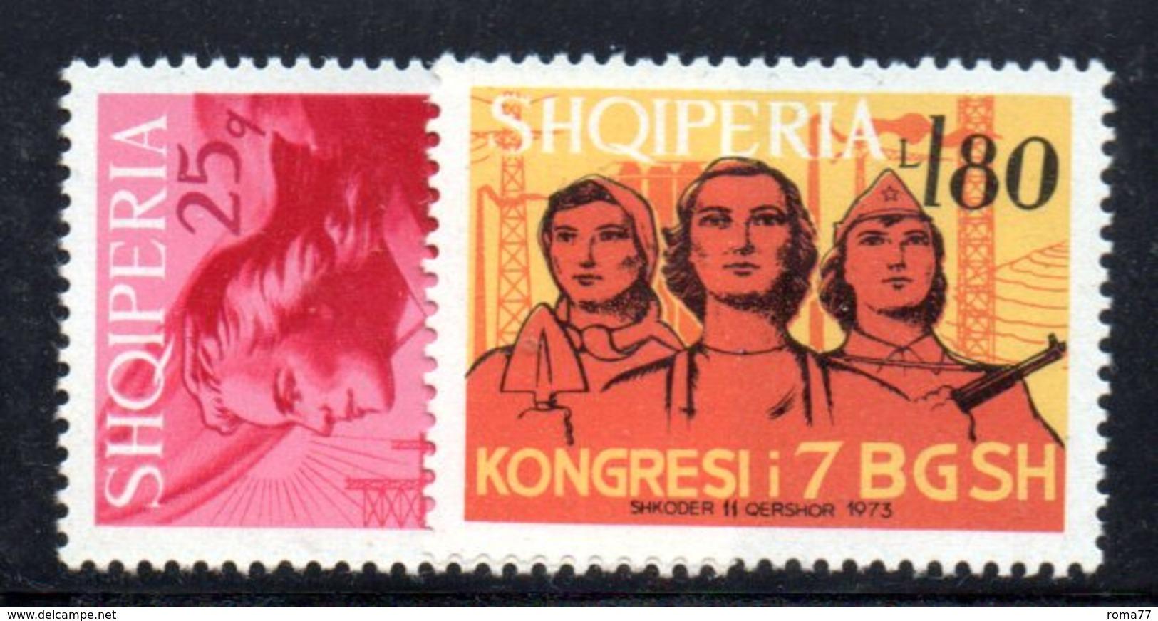 411 - 490 - ALBANIA 1973 , Yvert N. 1443/1444  *** MNH - Albania