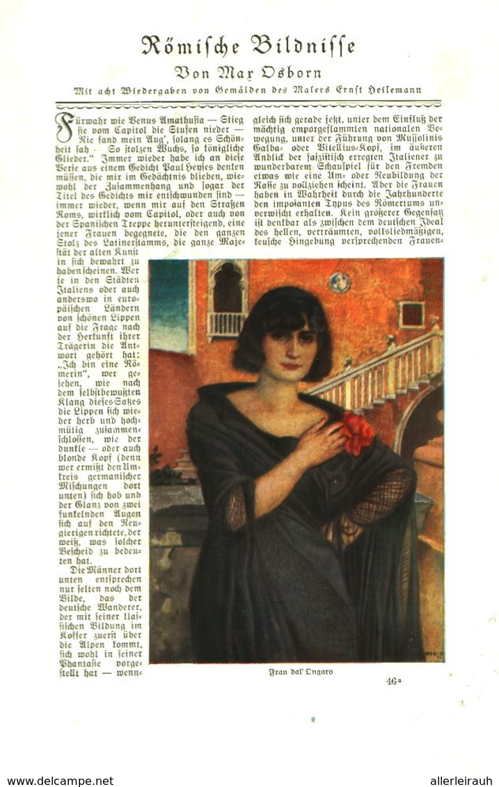 Römische Bildnisse (von Max Osborn) / Artikel, Entnommen  Aus Zeitschrift /1925 - Bücher, Zeitschriften, Comics