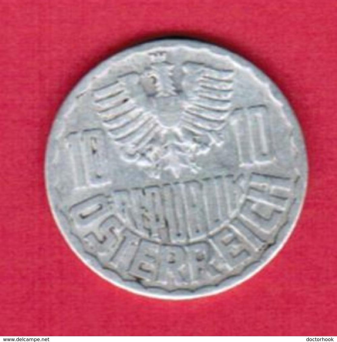 AUSTRIA   10 GROSCHEN 1955 (KM # 2878) #5135 - Austria