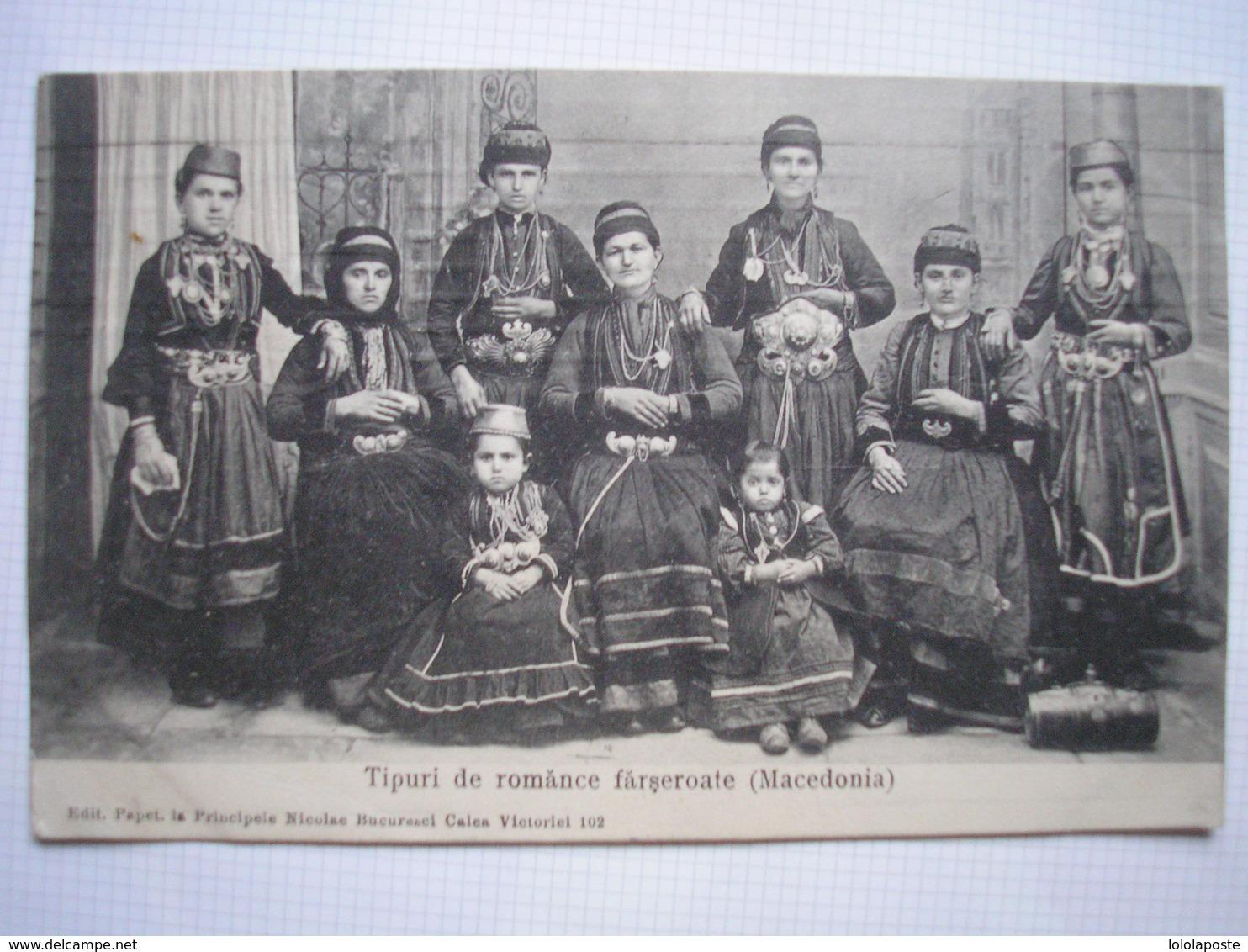 ROUMANIE - CPA - Tipuri De Romance Farseroate ( Macedonia ) - Belle Carte ANIMEE Peu Commune - Rumänien