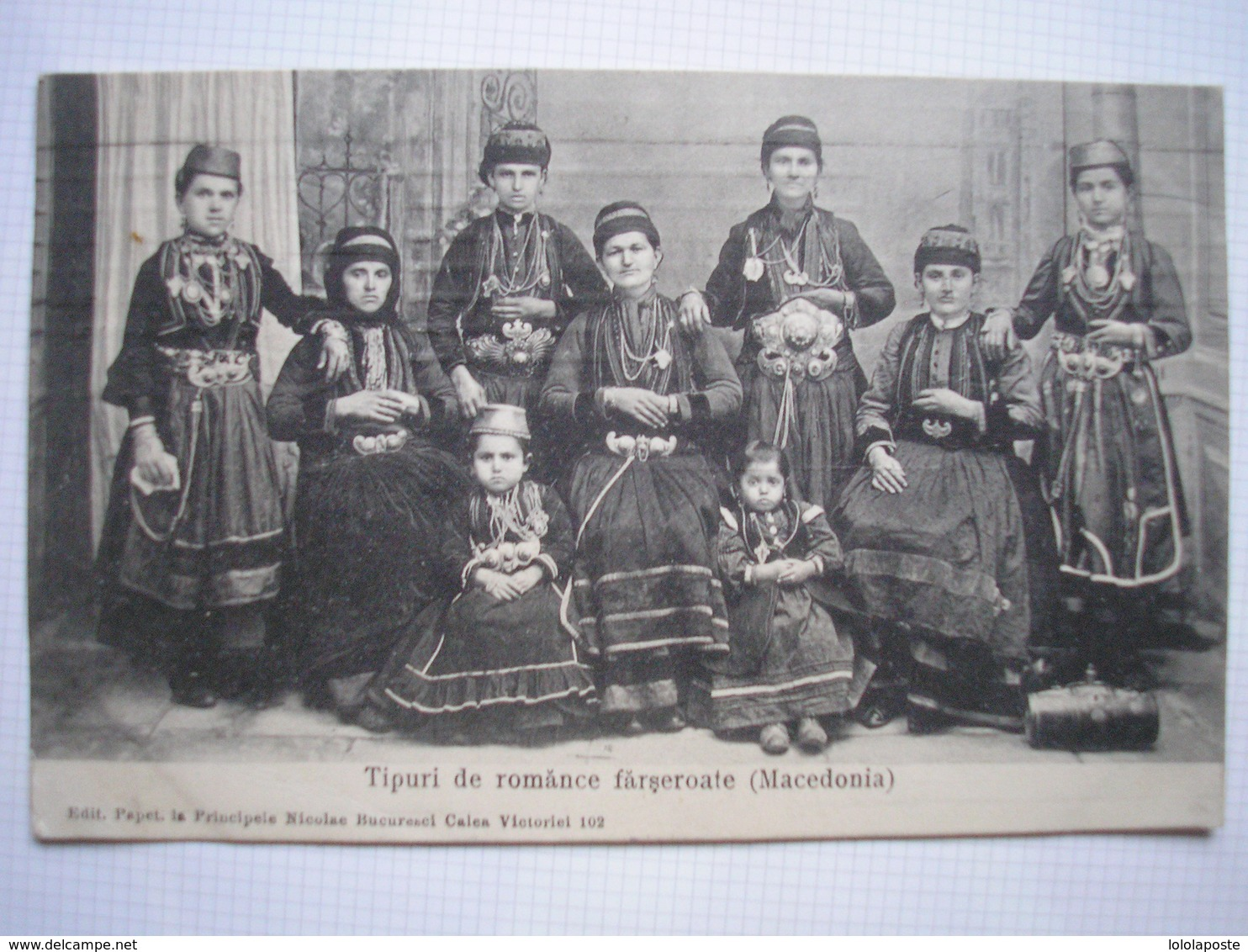 ROUMANIE - CPA - Tipuri De Romance Farseroate ( Macedonia ) - Belle Carte ANIMEE Peu Commune - Romania