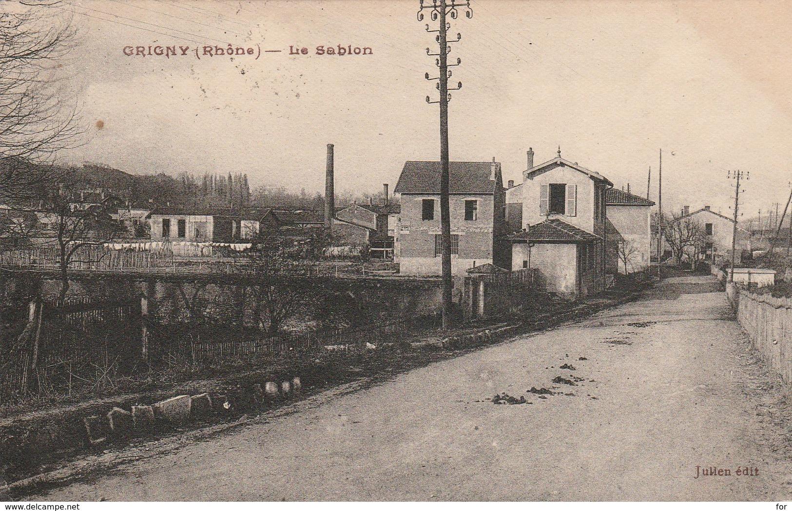 Rhone : GRIGNY : Le Sablon - Grigny