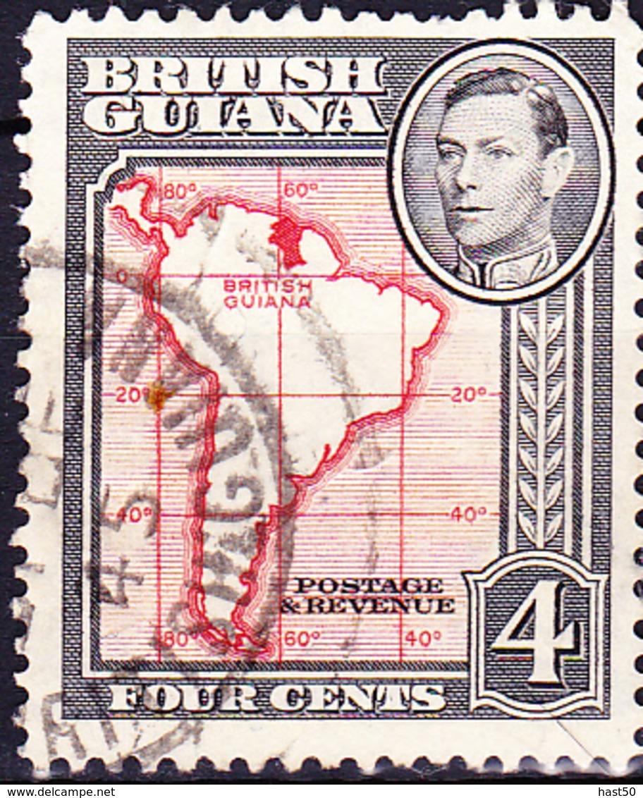 Britisch-Guayana - Karte Von Südamerika  (MiNr: 178) 1934 - Gest Used Obl - British Guiana (...-1966)