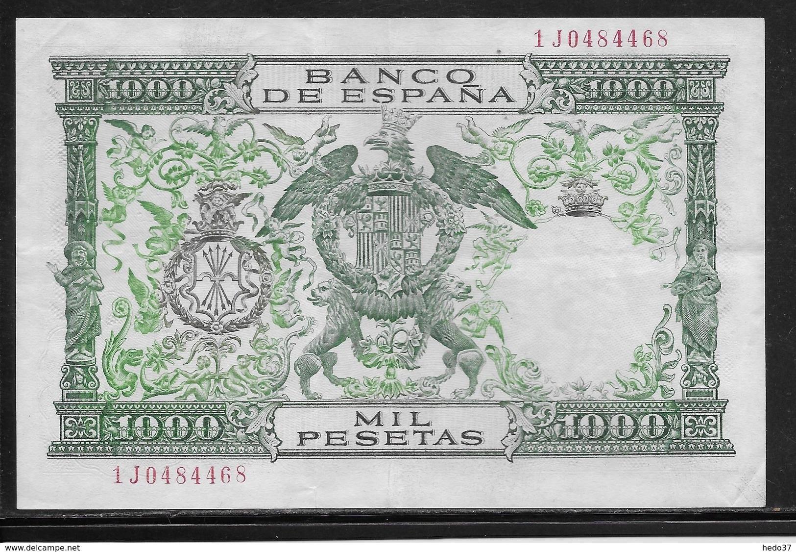 Espagne - 1000 Pesetas - 1957 - Pick N°149 - TTB - [ 3] 1936-1975: Regime Van Franco
