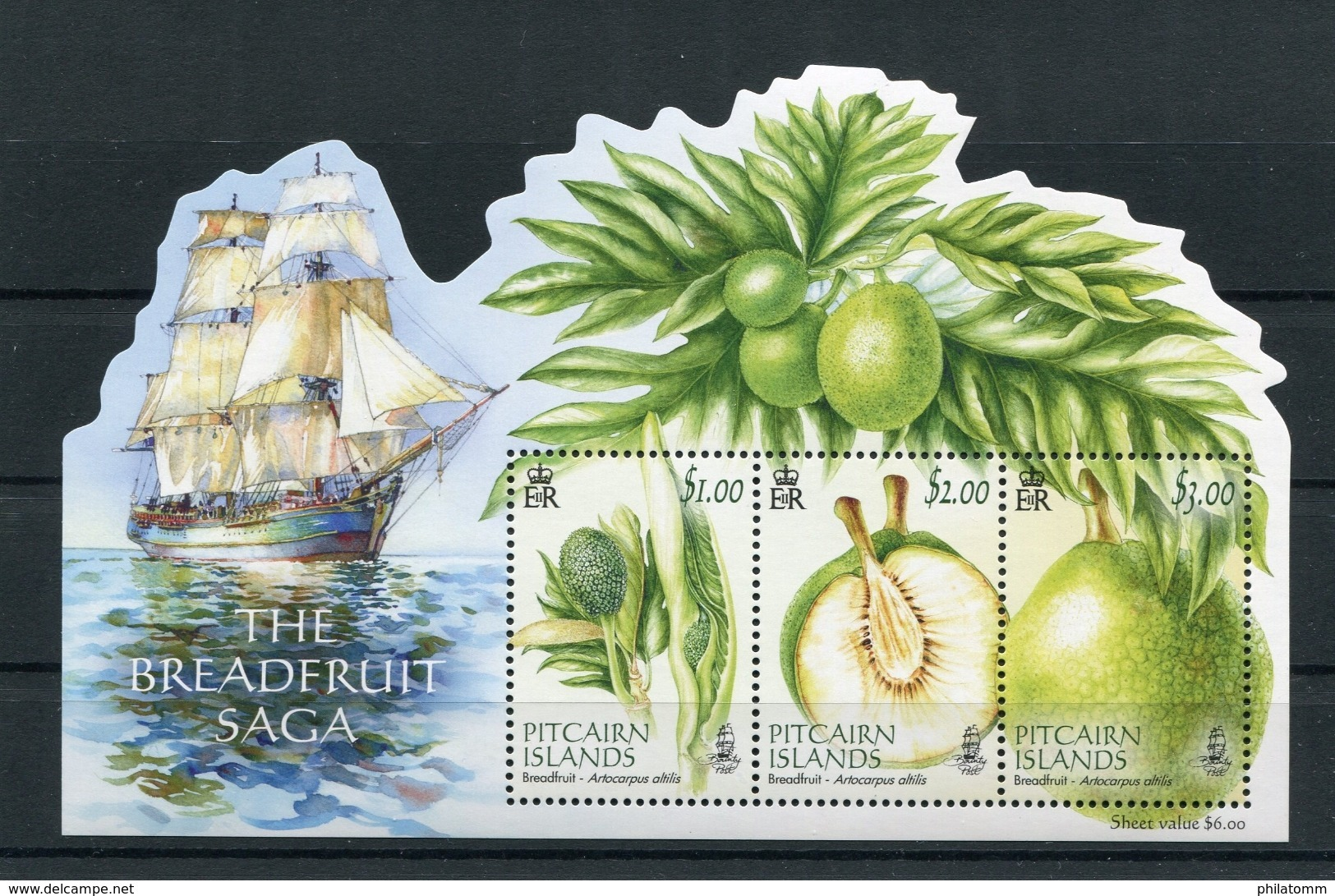 "Pitcairn - Block Nr. 69 - ""Brotfruchtbaum"" ** / MNH (aus Dem Jahr 2015) - Timbres"