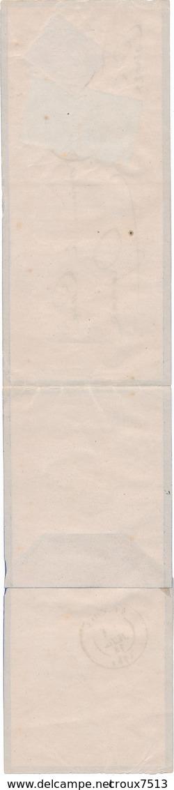 Corrèze 1874 Affr à 20 C Sur Bande Signée Calves TB. - 1871-1875 Ceres