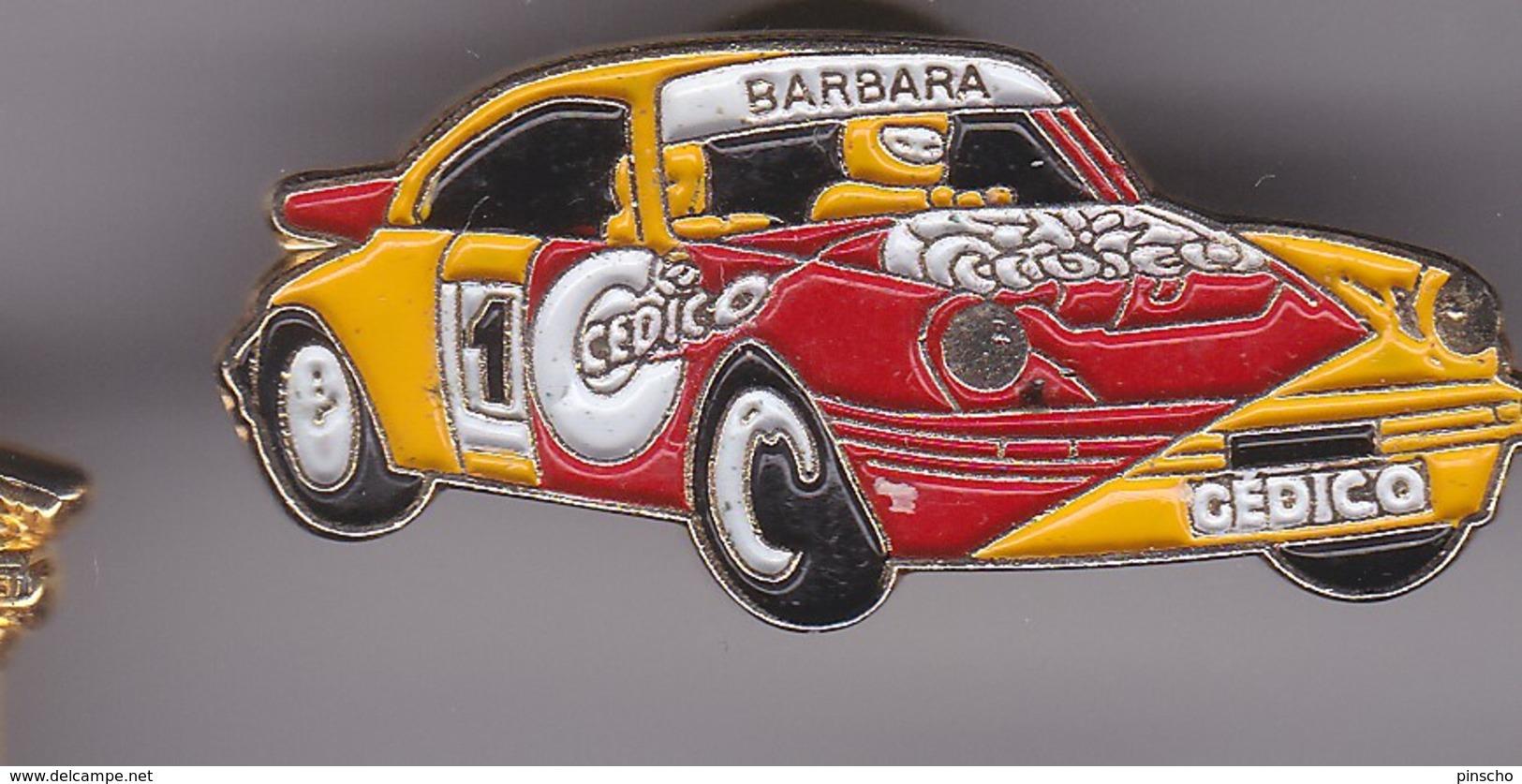 Pin's PORSCHE BARBARA CEDISCO - Porsche