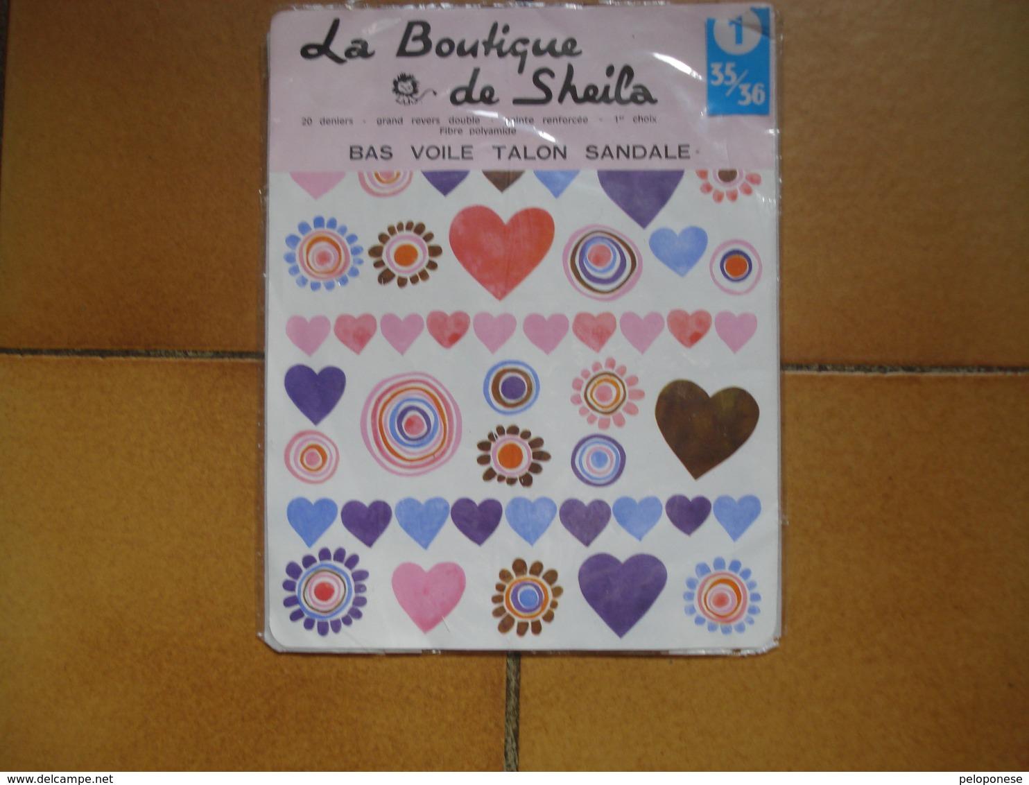 BAS COLLECTOR -- LA BOUTIQUE DE SHEILA --- Taille 1 -  35/36 -- Ton Beige - Habits & Linge D'époque