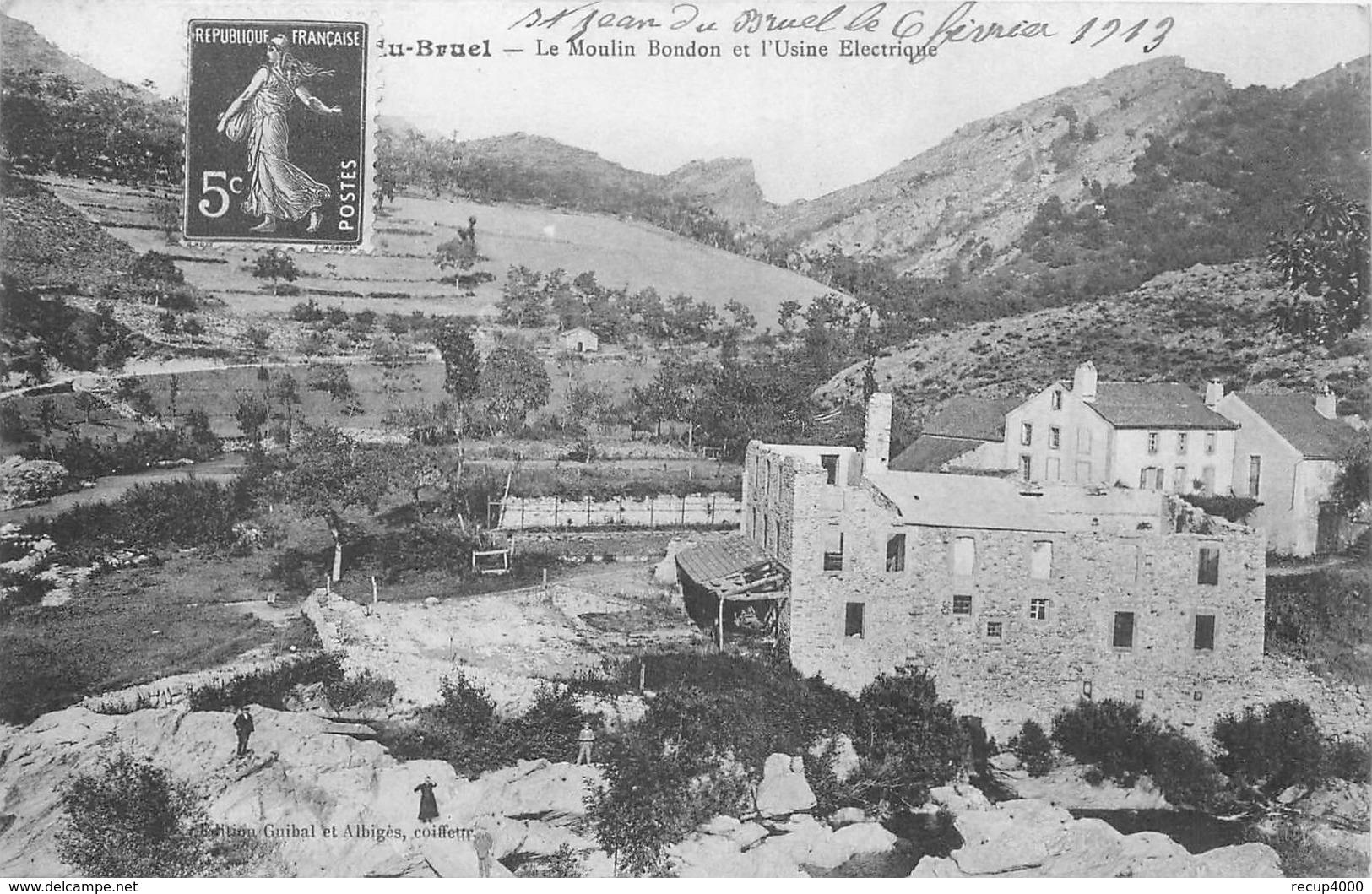 12  SAINT JEAN DE BRUEL  Le Moulin Bondon  Et L'usine électrique  2scans - Autres Communes