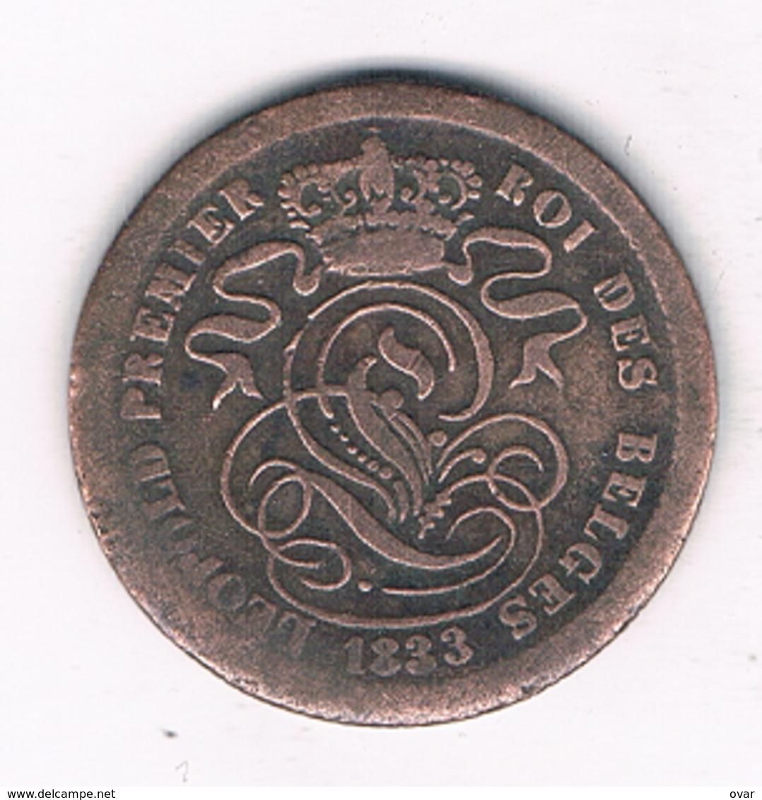 2 CENTIMES 1833  BELGIE /3033G/ - 1831-1865: Leopold I