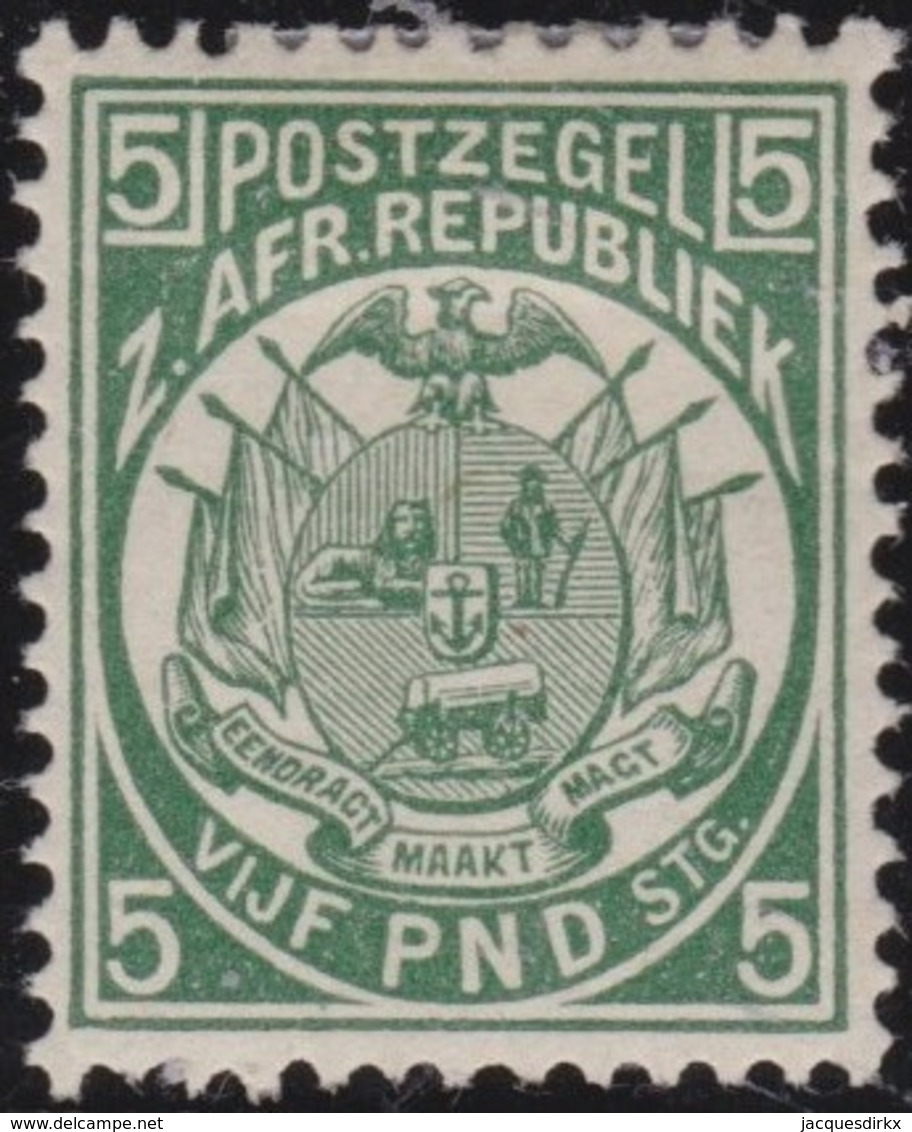 Transvaal        .   Yvert  86  Signed     .      *          .  Ongebruikt   .     /    .     Mint-hinged - Transvaal (1870-1909)