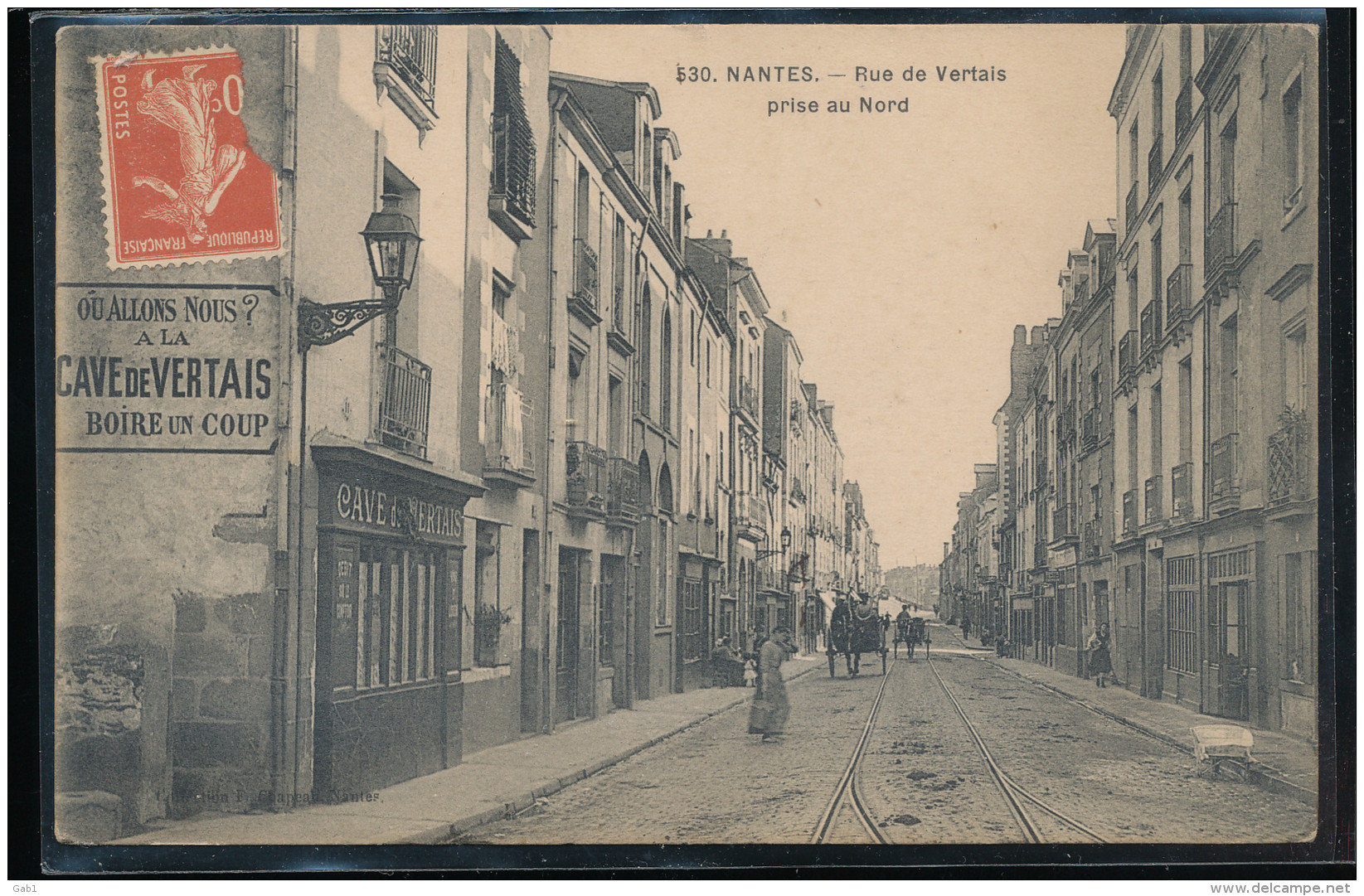 44 -- Nantes -- Rue De Vertais  Prise Au  Nord - Nantes