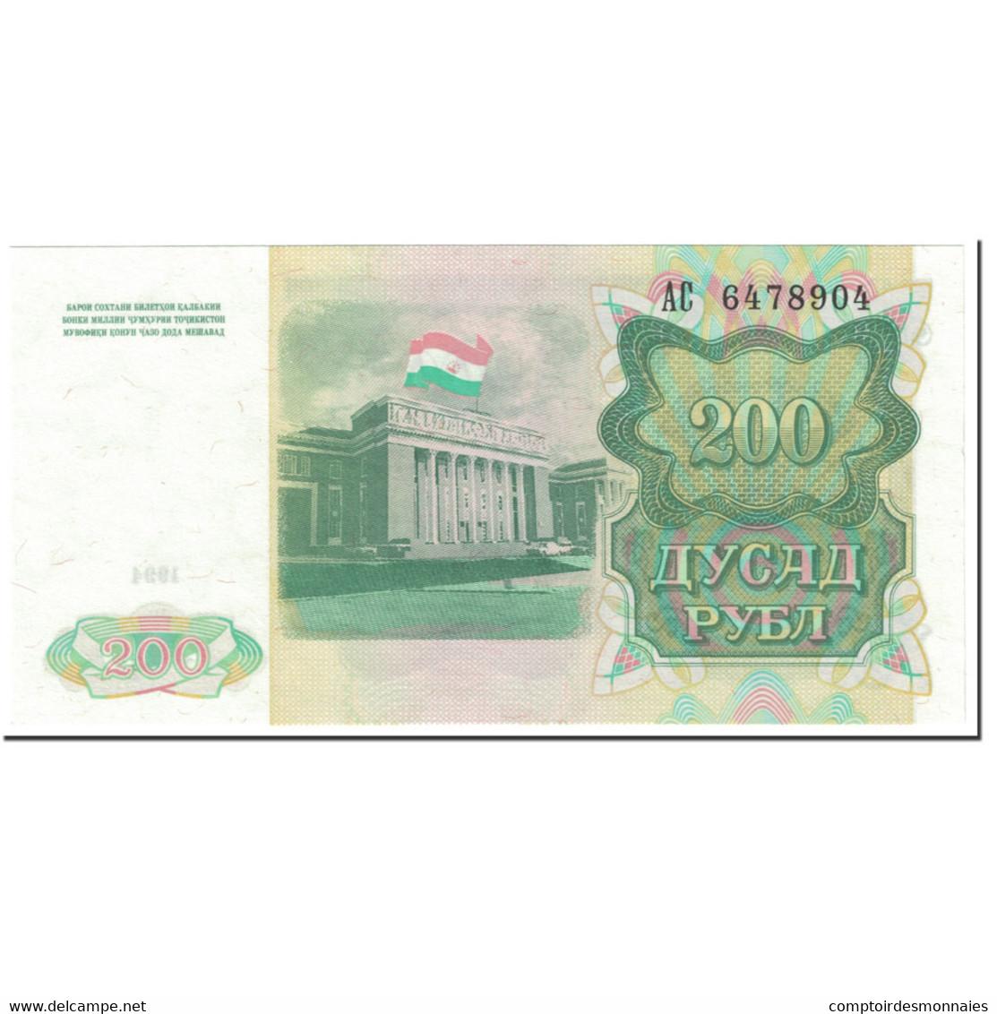 Billet, Tajikistan, 200 Rubles, 1994, Undated (1994), KM:7a, NEUF - Tadjikistan