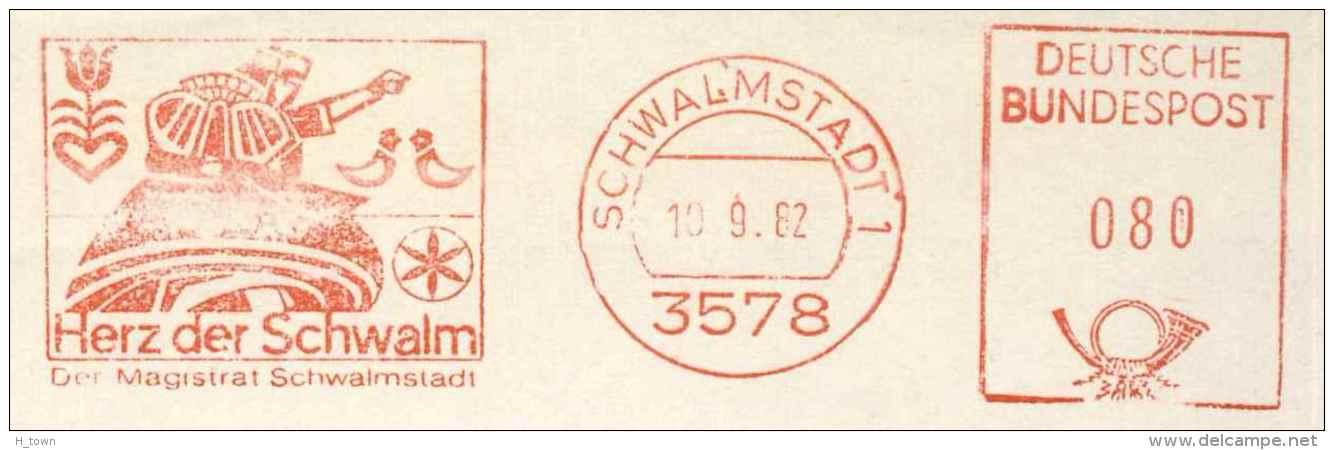 7288  Jeu De Cartes: Ema D'Allemagne, 1982 - Playing Card Meter Stamp From Schwalmstadt, Germany - Spiele