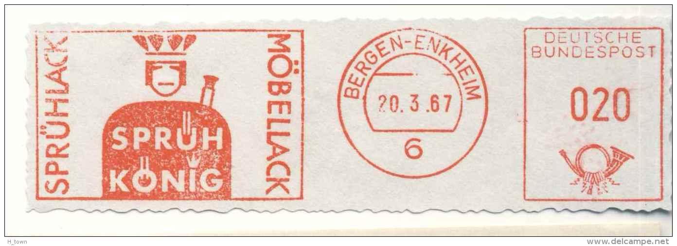 7288  Jeu De Cartes: Ema D'Allemagne, 1967 - Playing Card Meter Stamp From Bergen-Enkheim, Germany - Spiele