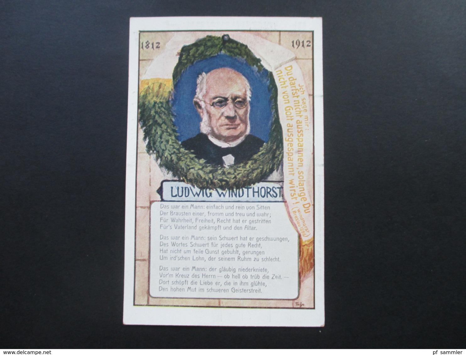 AK Ca. 1912 Das Zentrum Volkspartei Karte 1. Künstlerkarte. Ludwig Windhorst. Für Wahrheit, Freiheit Und Recht - Parteien & Wahlen