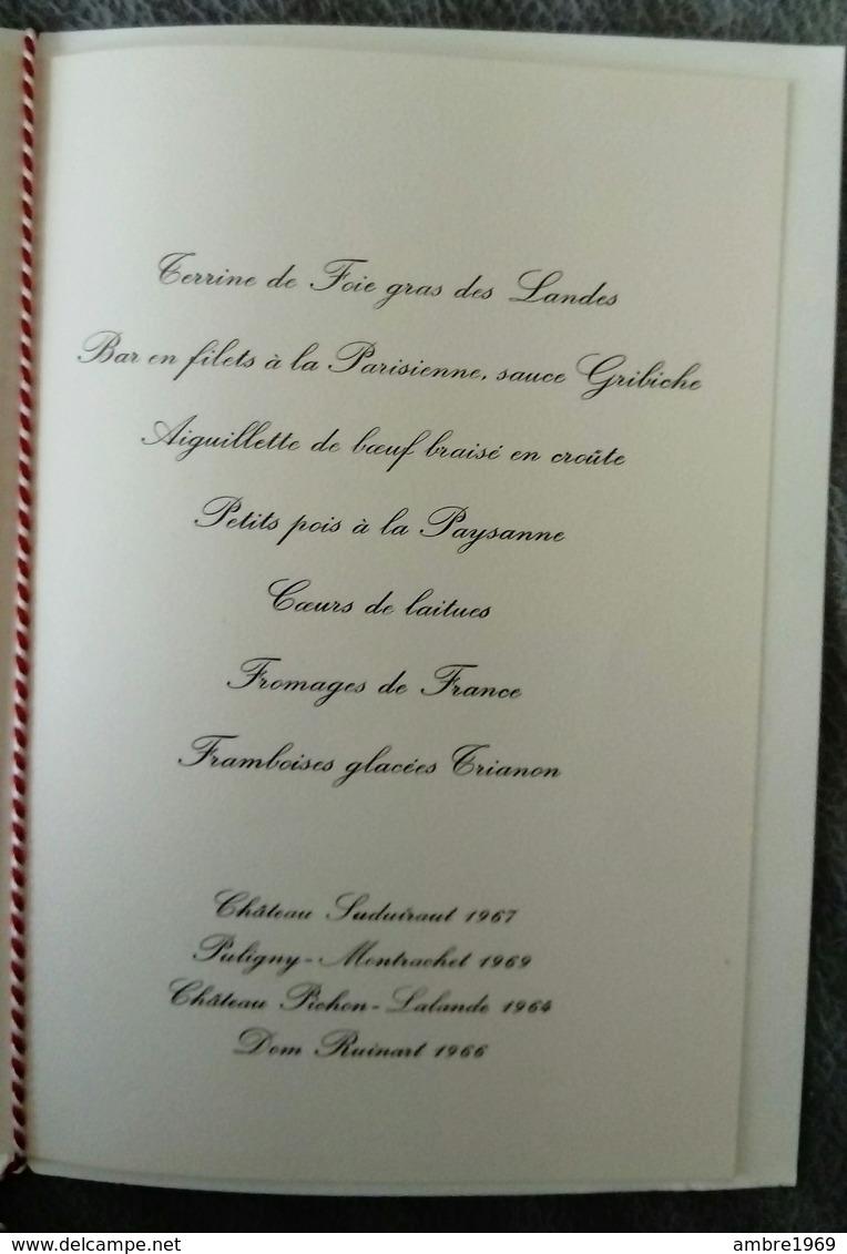 Menu Déjeuner Offert En L'honneur Edward Gierek Par Mr Giscard D'étaing 20  Juin 1975 - Menus