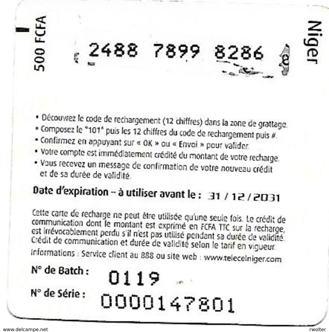 @+ Niger - Recharge Mango 500F CFA - Niger