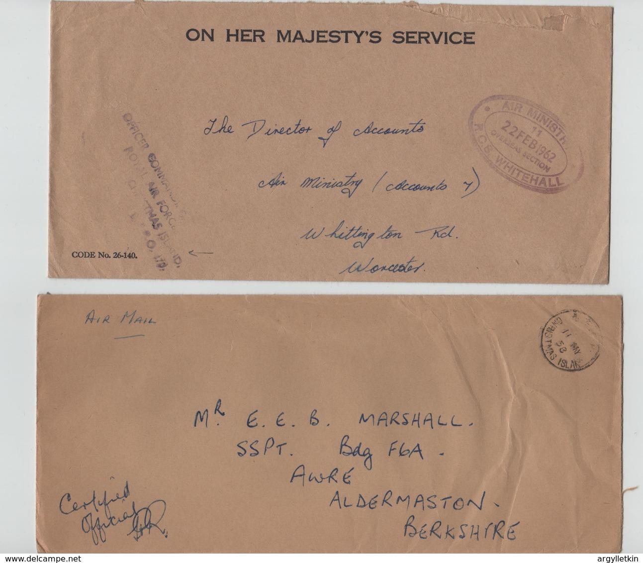 GB CHRISTMAS ISLAND RAF ATOMIC WEAPONS TRIALS ALDERMASTON 1958-1962 - Christmas Island