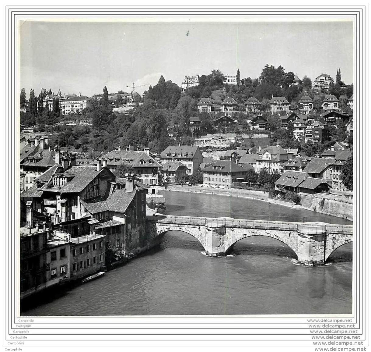 Press Photo - SUISSE - Berne - Bern - Nord De La Ville Vue Du Pont Nydegg 1949 - Lieux