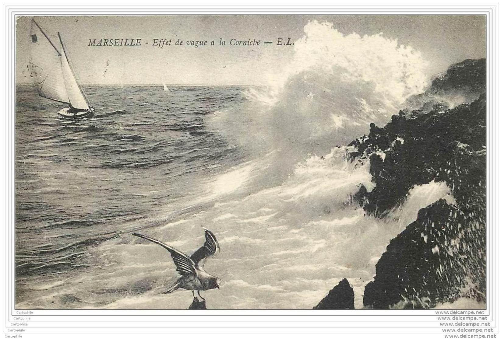 Cachet De La 3eme Section Automobile Marocaine A Marseille En 1916 - Guerre De 1914-18