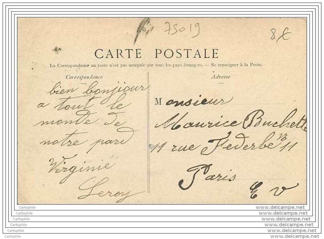 75019 - PARIS - Buttes Chaumont - La Petite Cascade (animee Couleur) - Arrondissement: 19