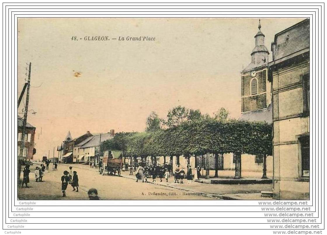 59 - GLAGEON - La Grand Place (animee Couleur) - France