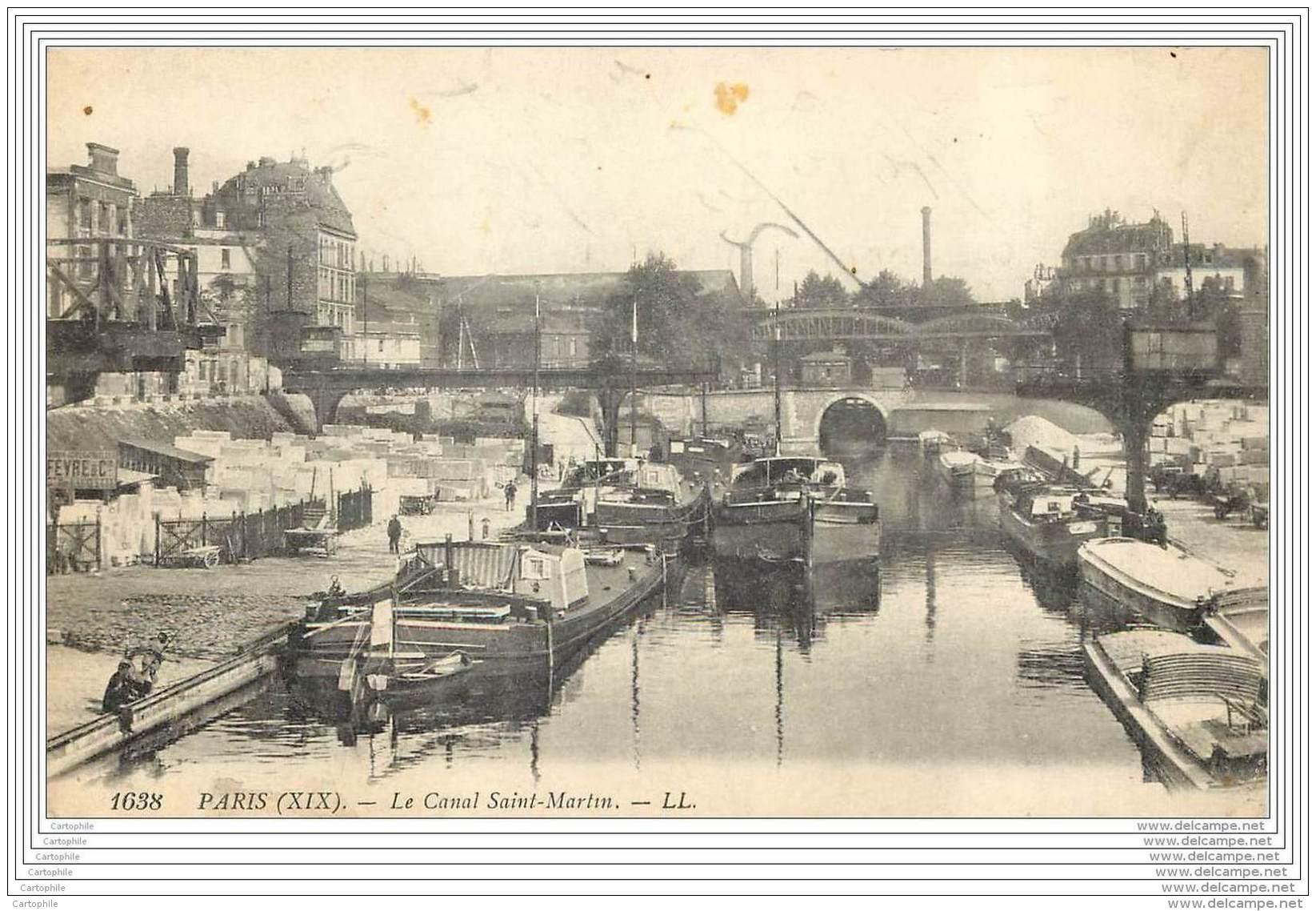 75019 - PARIS - Le Canal Saint Martin - District 19