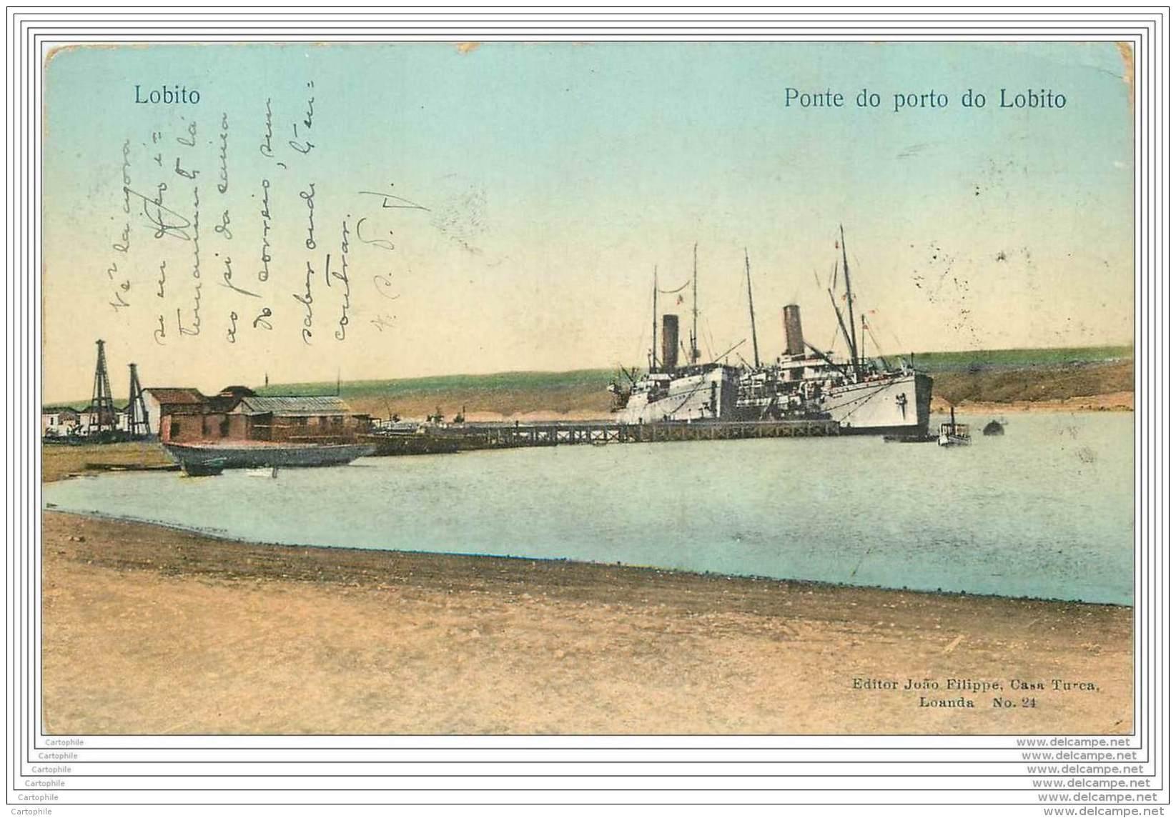 ANGOLA - Lobito - Ponte Do Porto (escrito Ao Concelho De Macao ?) - Angola
