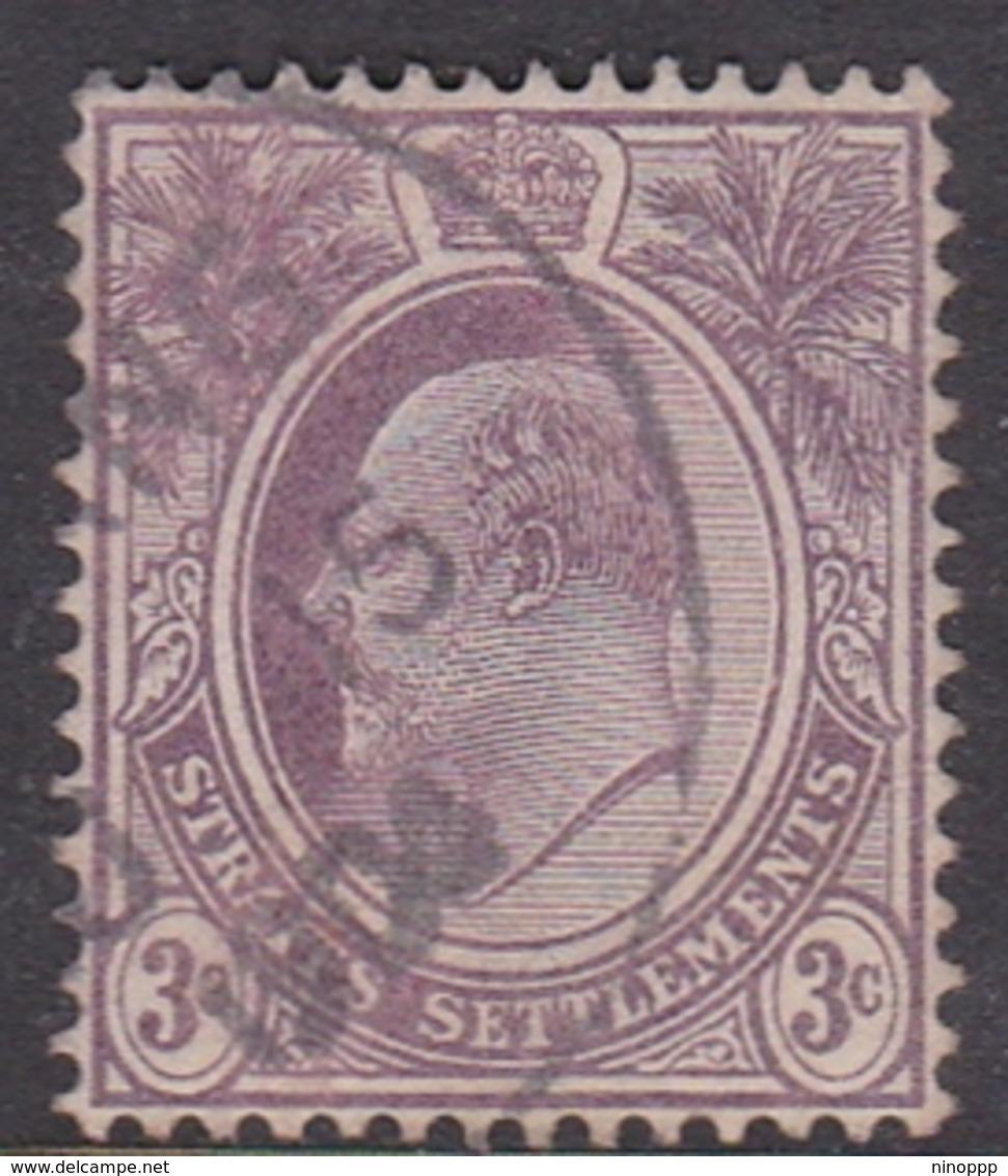 Malaysia-Straits Settlements SG 124 1904 King Edward VII, 3c Dull Purple, Used - Straits Settlements