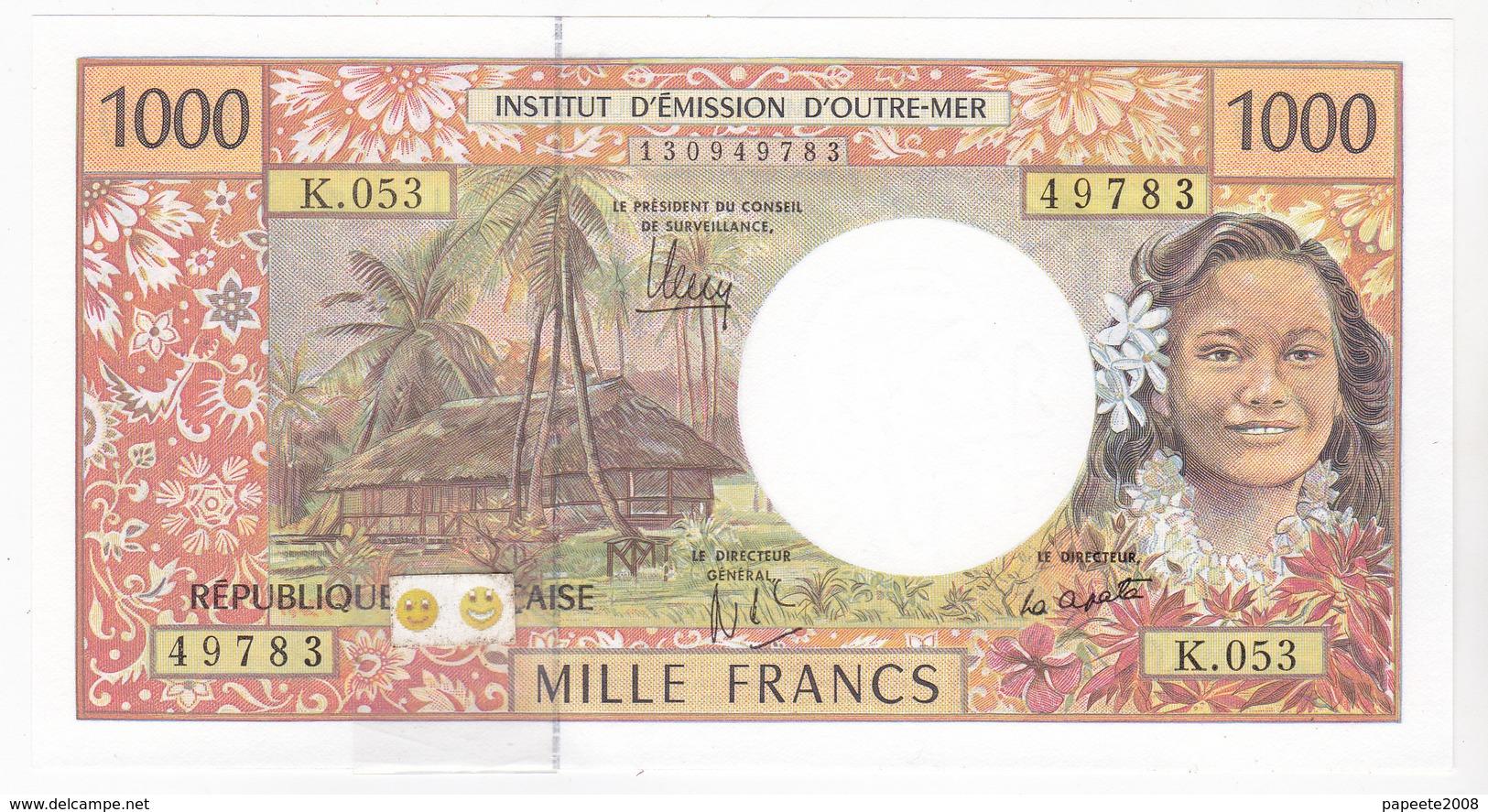 Polynésie Française / Tahiti - 1000 FCFP - K.053 / 2013 / Signatures Noyer/de Seze/La Cognata - Neuf / UNC - Papeete (Polynésie Française 1914-1985)