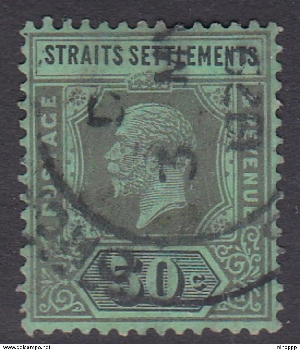 Malaysia-Straits Settlements SG 209 1914 King George V, 50c Black Green, Used - Straits Settlements