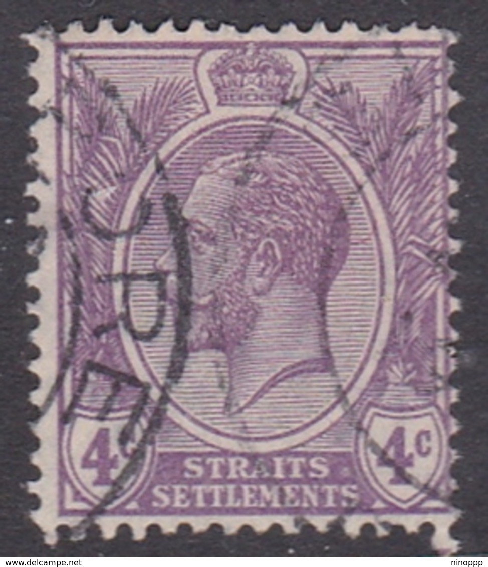 Malaysia-Straits Settlements SG 223 1924 King George V, 4c Bright Violet, Used - Straits Settlements
