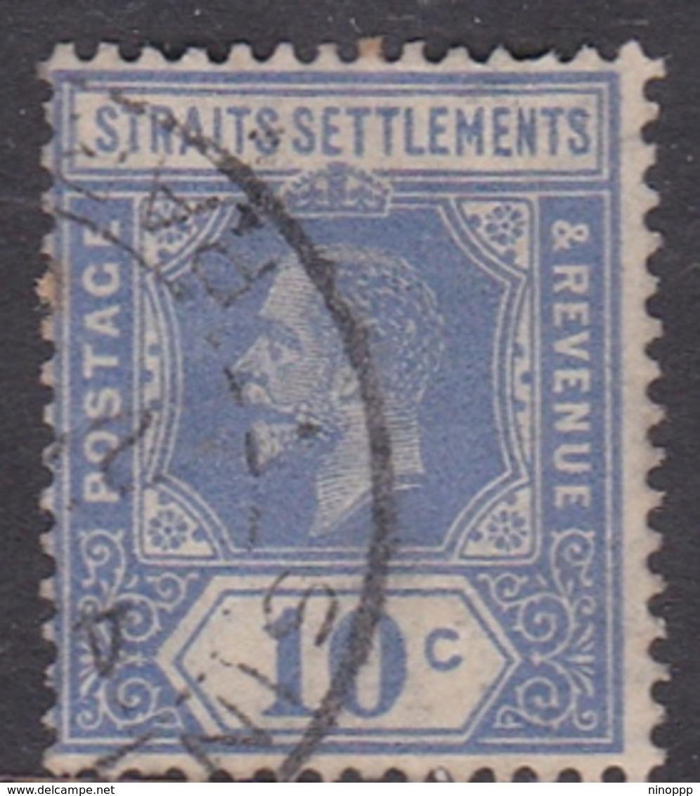 Malaysia-Straits Settlements SG 230 1921 King George V, 10c Blue, Used - Straits Settlements