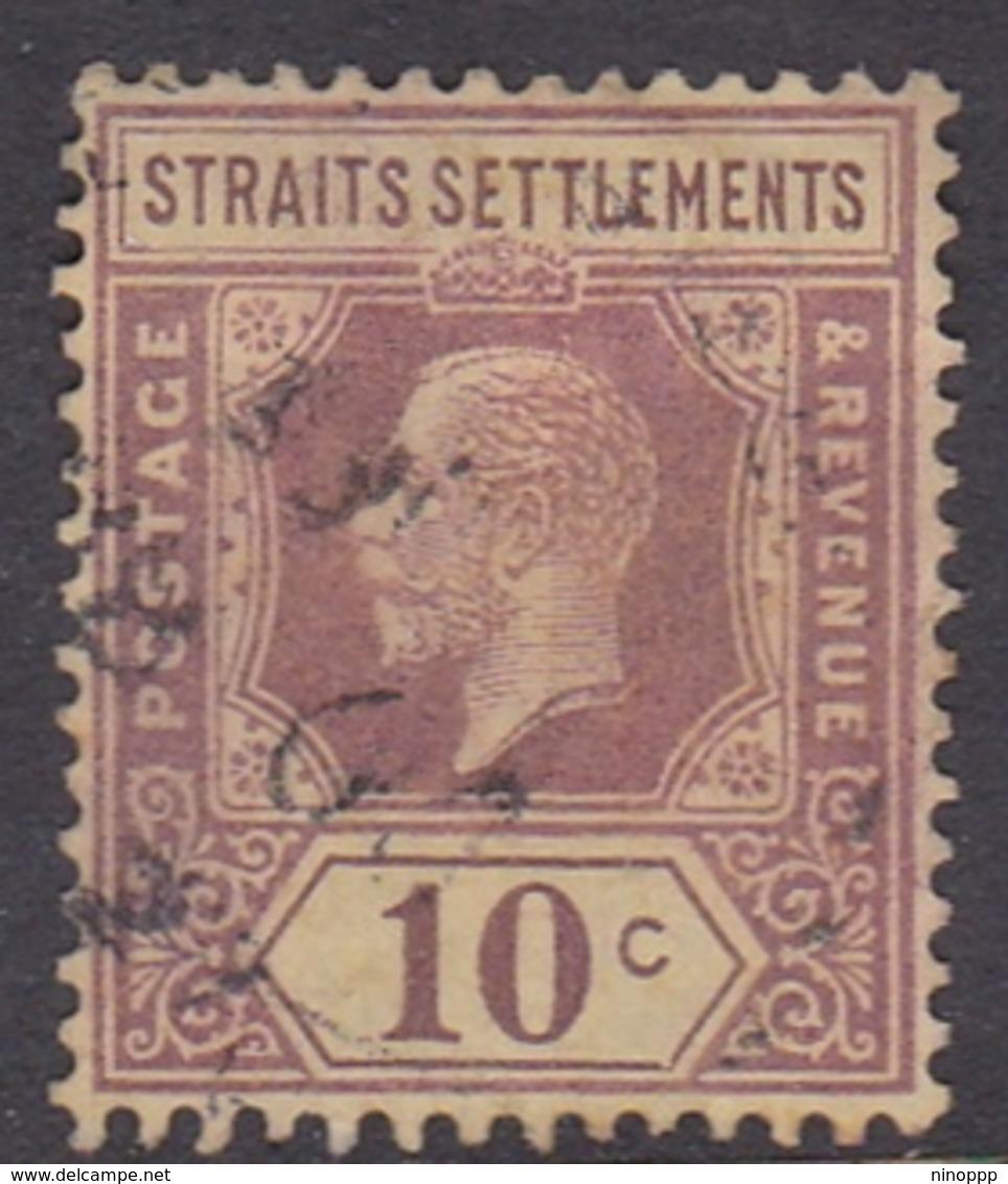 Malaysia-Straits Settlements SG 231 1926 King George V, 10c Purple Yellow, Used - Straits Settlements
