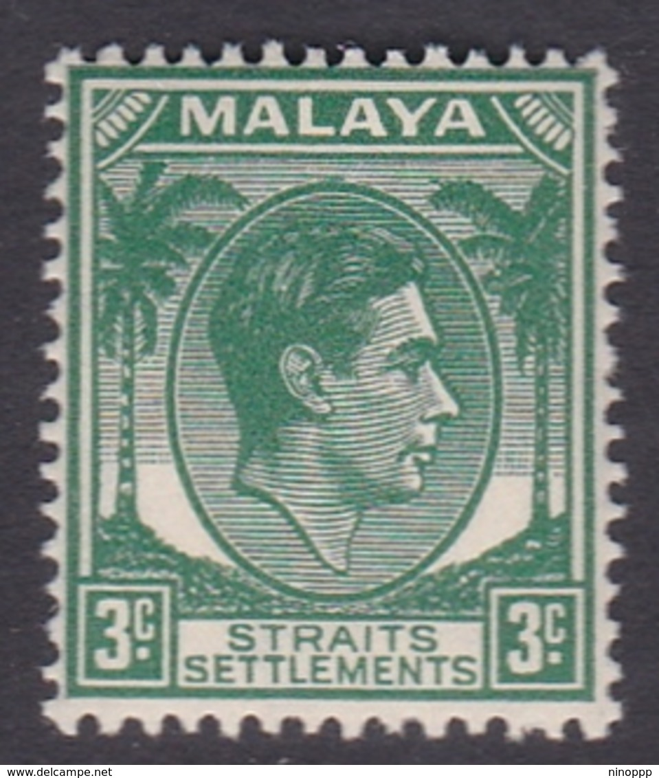 Malaysia-Straits Settlements SG 295 1941 King George VI, 3c Green, Mint Never Hinged - Straits Settlements