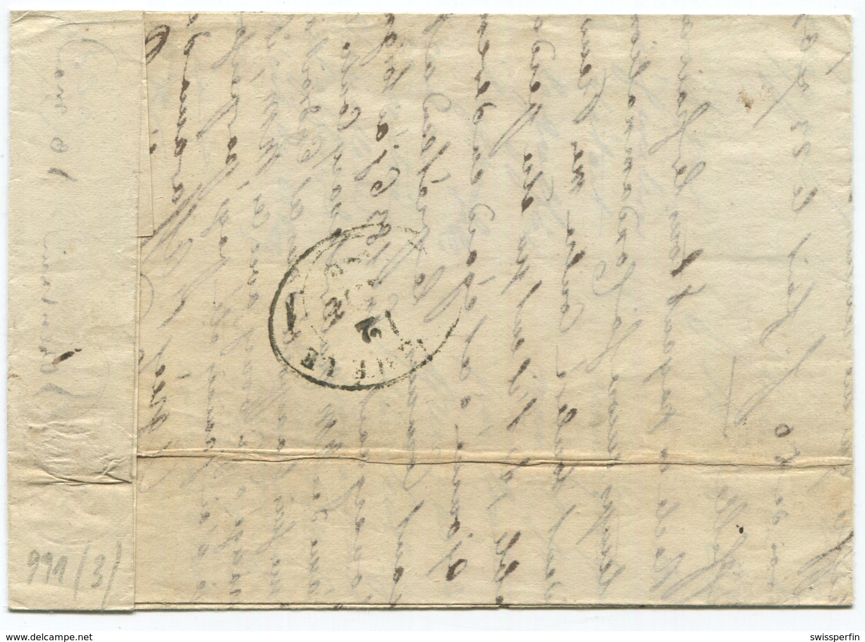 1819 - PORRENTRUY Zierstempel Auf Faltbrief - Suisse