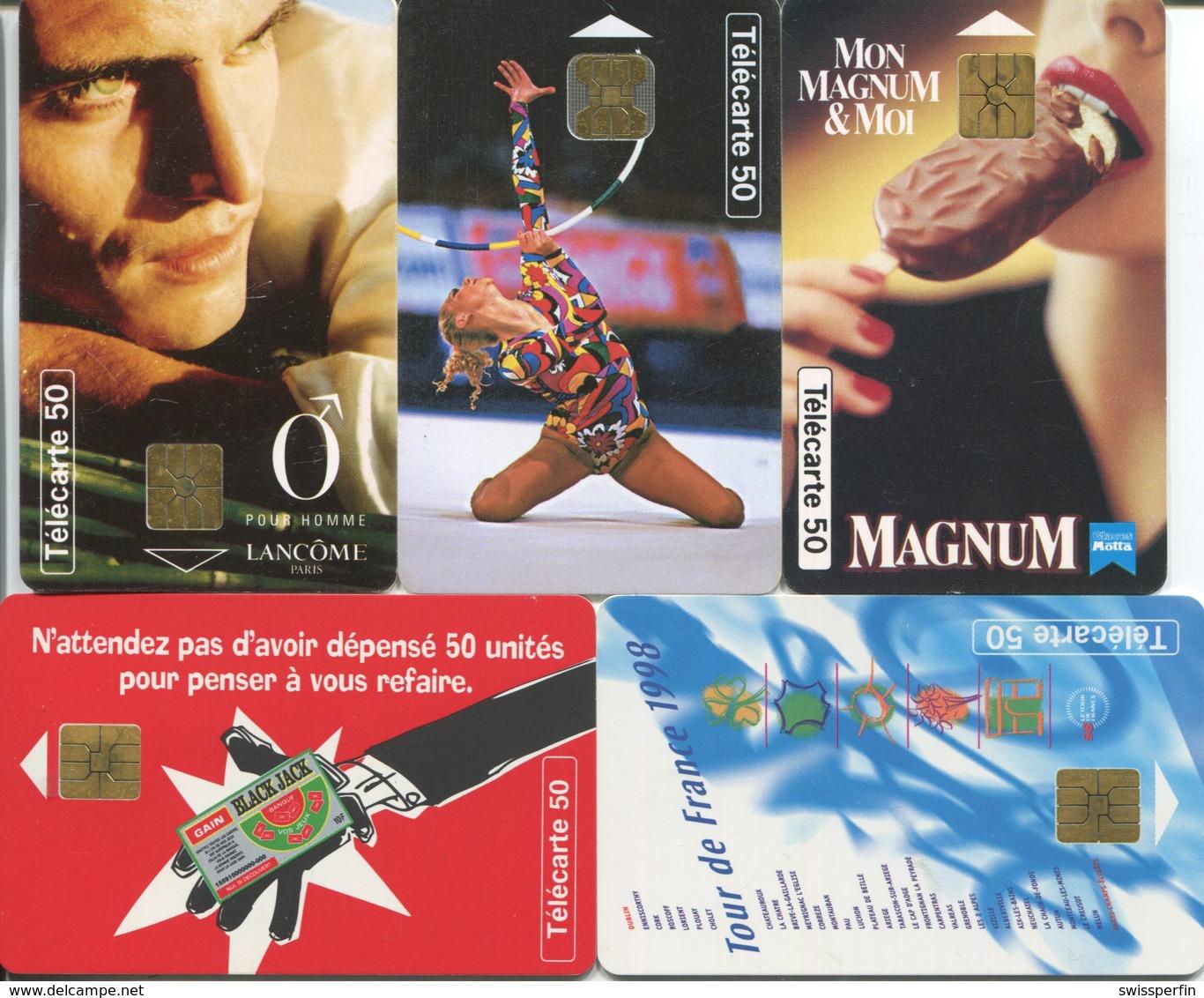 1823 - 5 Frankreich Telefonkarten Mit MOTIVEN - Telefonkarten