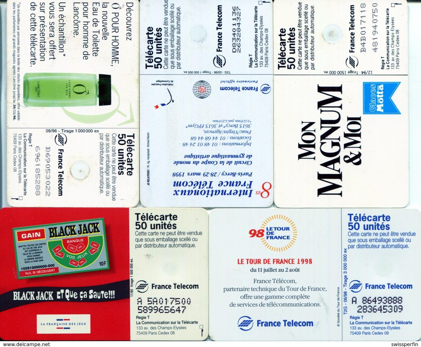1823 - 5 Frankreich Telefonkarten Mit MOTIVEN - Télécartes