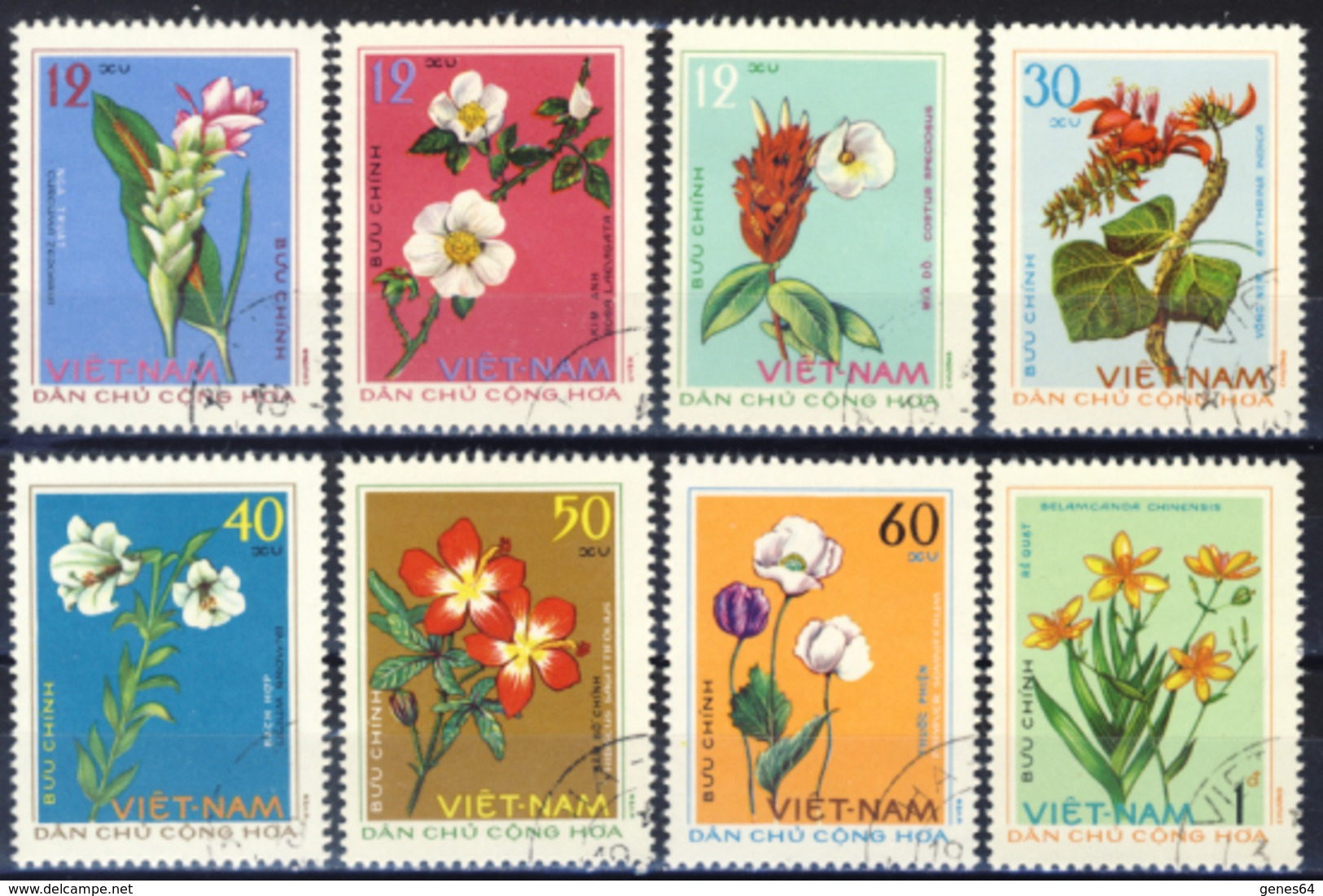 Nord Vietnam -  1975 One Complete Series Of Canceled Postage Stamps (read Descriptions) 1 Photos - Vietnam
