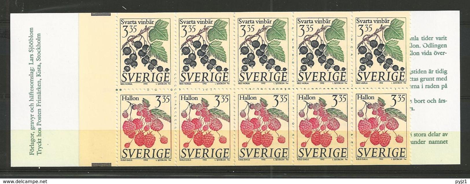 1995 MNH Schweden, Sweden, Sverige, Booklet, Postfris - Carnets