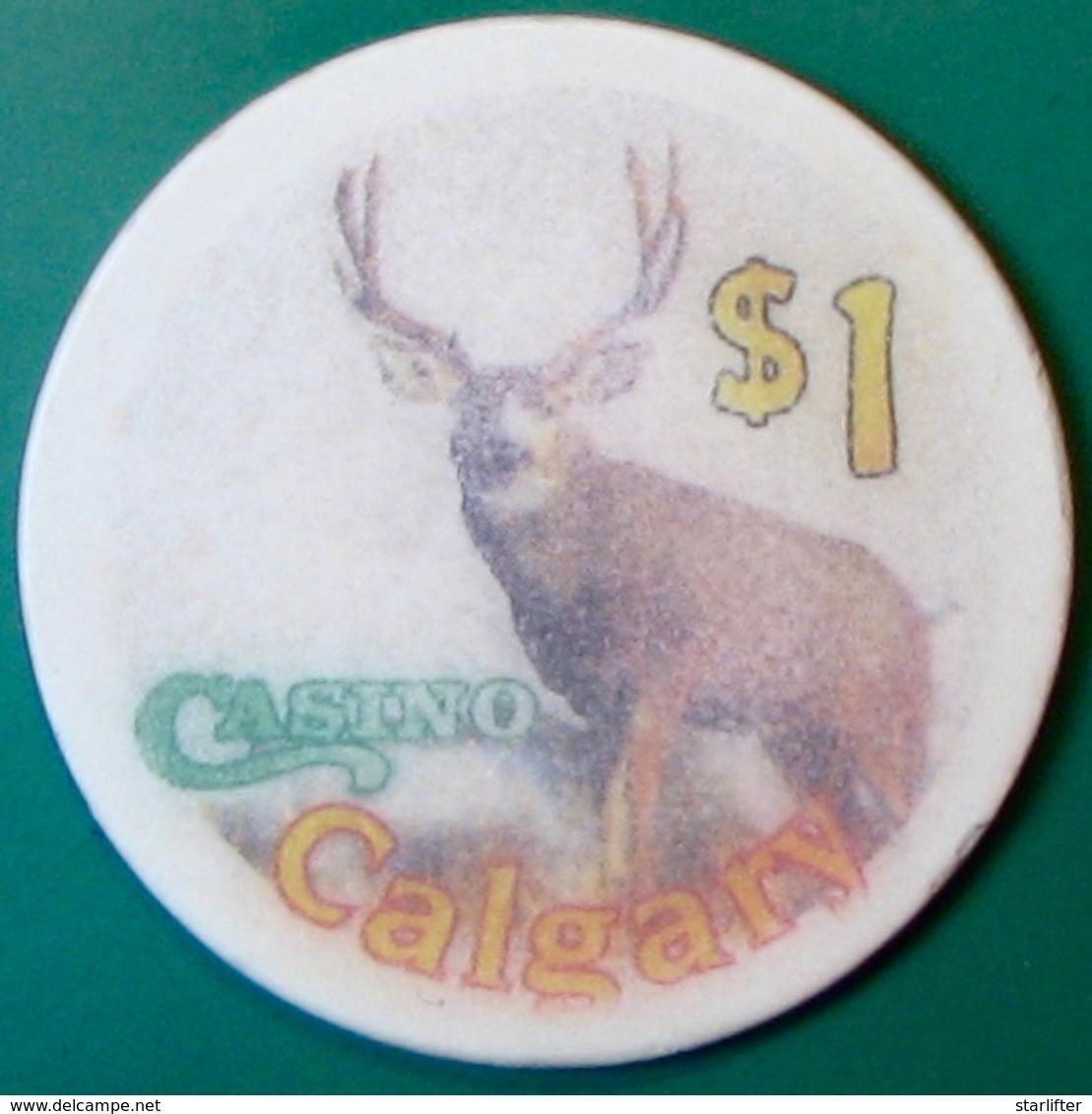 $1 Casino Chip. Casino Calgary, Calgary, Canada. C73. - Casino