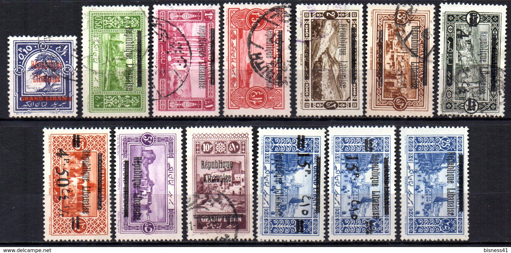 Col9  Grand Liban :  N° 76 à 83 Neuf  X MH Et Oblitéré  , Cote : 42,00 Euro - Great Lebanon (1924-1945)