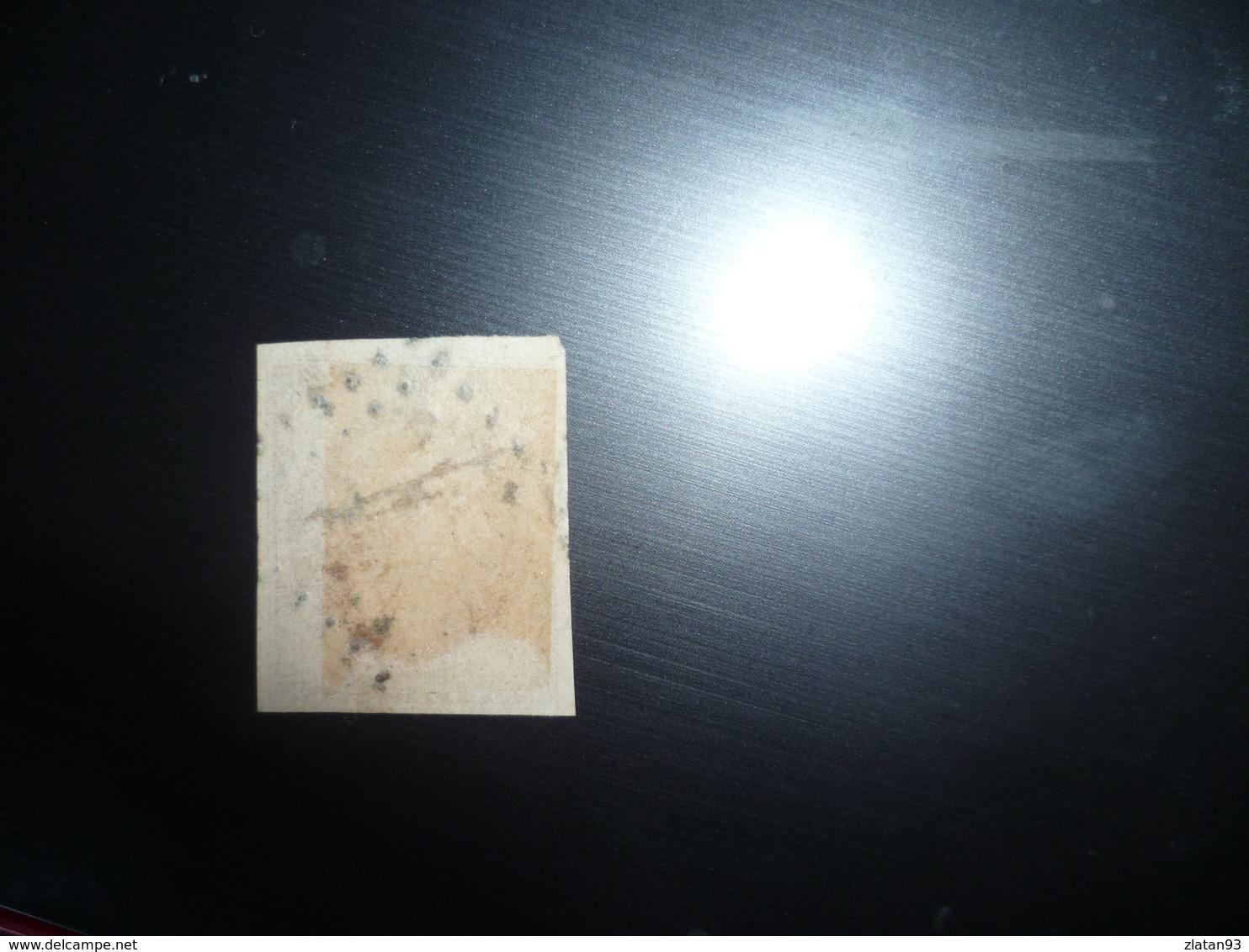 RARE NAPOLEON N°9a 10c Bistre-Brun Oblitéré Losange PC Cote 1000 Euro PAS AMINCI - 1852 Louis-Napoléon
